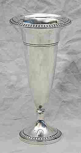 Sterling vase, Webster Co., N. Attleboro