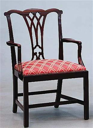 George III style mahogany armchair a sha