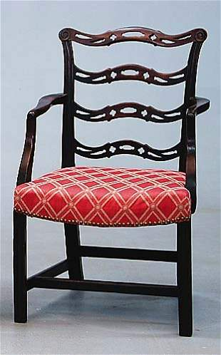 George III style mahogany armchair circa