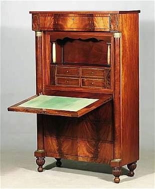 Continental mahogany secretaire circa 18