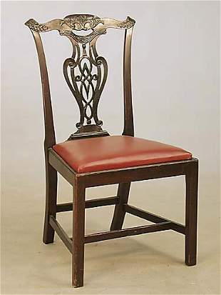 George III carved mahogany dining chairs