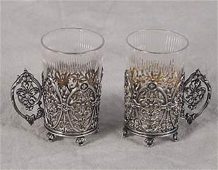 Twelve silver cordials circa 1900 each w