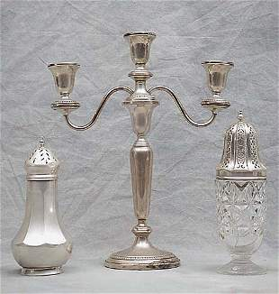 Three sterling table articles an America