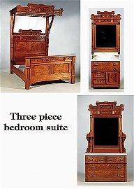 624: Victorian walnut and burl walnut bedroom