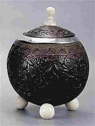 Silver-mounted coconut shell cup circa 1810