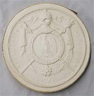 Collection of six antique plaster intaglios late 19
