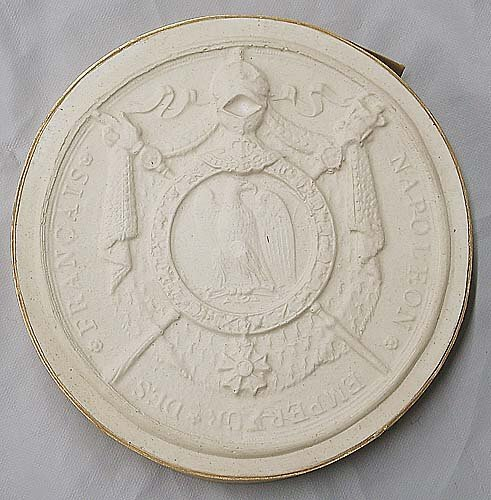 19: Collection of six antique plaster intaglios late 19
