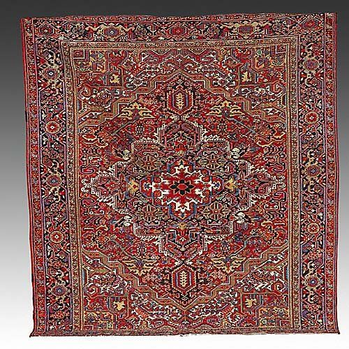 277: Antique Persian Heriz carpet circa 1920