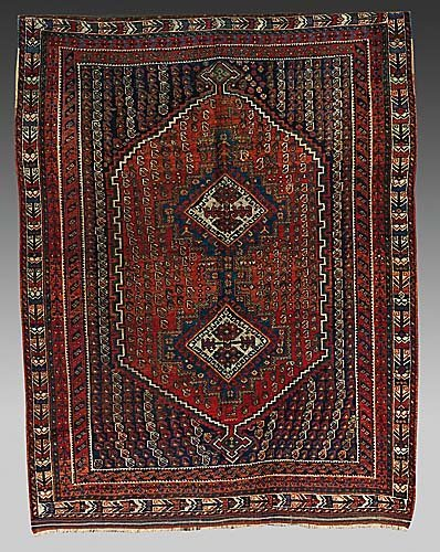 317: Antique Persian Afshar carpet circa 1890