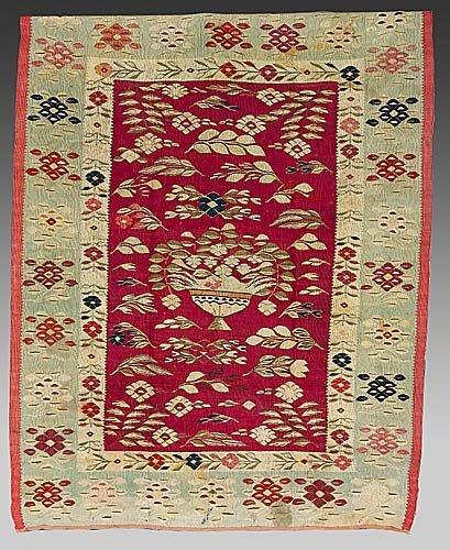 372: Antique Bessarabian carpet circa 1880