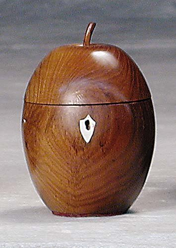 3: Walnut tea caddy
