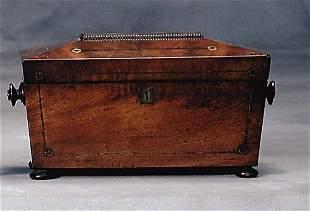 Regency mahogany tea caddy early 19th century