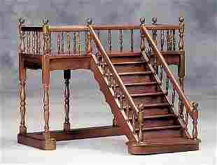 Miniature mahogany staircase