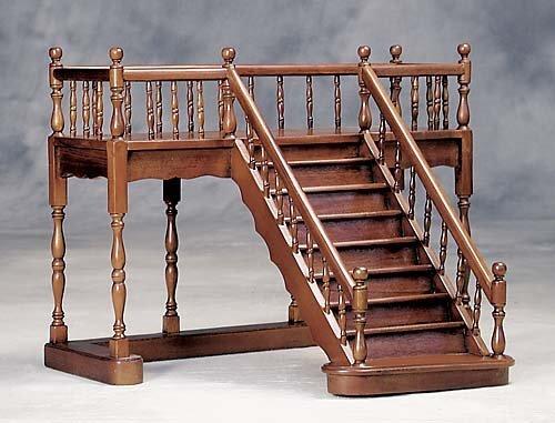 5: Miniature mahogany staircase