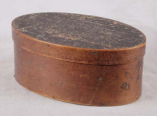 458: Shaker painted bentwood box 19th century