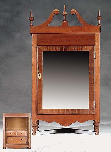 461: American miniature cherry tabletop cabinet early 1