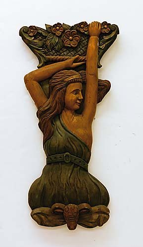 469: Carved wood figure of a lady