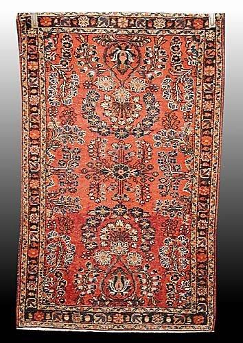 649: Antique Lilihan carpet circa 1910