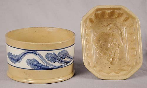 451: Two pieces of yellowware 19th century