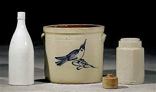 Four stoneware items 19th century