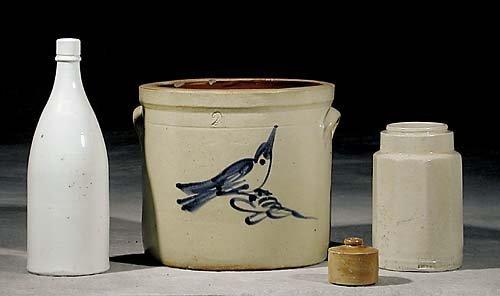 452: Four stoneware items 19th century