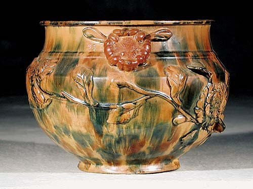 453: American pottery cachepot 19th century