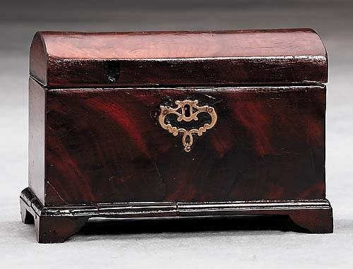 3: English mahogany tea caddy Date: 19th century