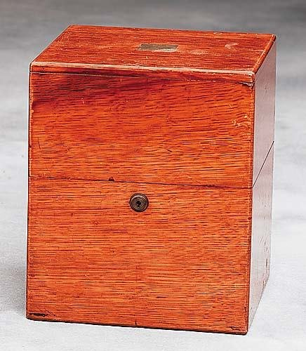 20: Commemorative oak liquor box Date: late 19th/early