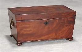23: Regency mahogany tea caddy Date: circa 1820