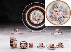 378: Austrian porcelain coffee service