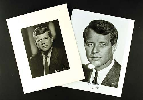 400: Two black and white photographs, John F. and Rober