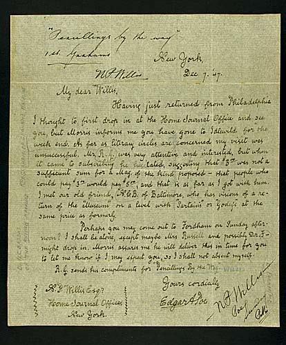 403: Joseph Cosey, forged Edgar Allan Poe letter Date: