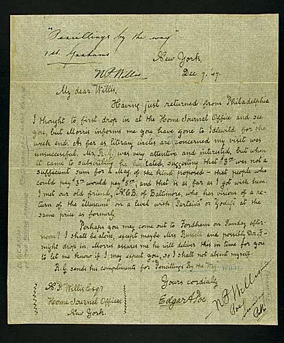 403: Joseph Cosey, forged Edgar Allan Poe letter Date: