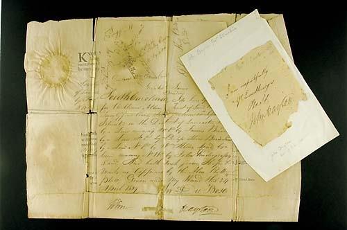 406: John Drayton, South Carolina land grant and signat
