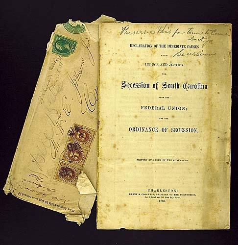 409: 1 vol. booklet: South Carolina secession