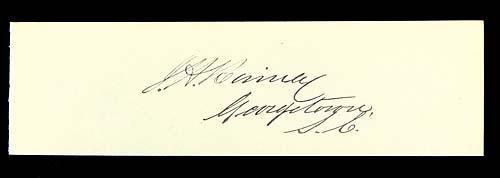 410: Joseph H. Rainey, signature Date: (1832-1887)