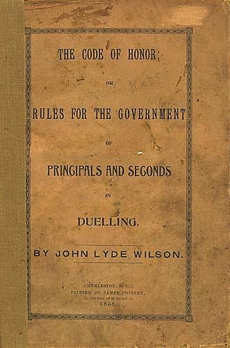 411: 1 vol. booklet: Dueling code Date: published 1858