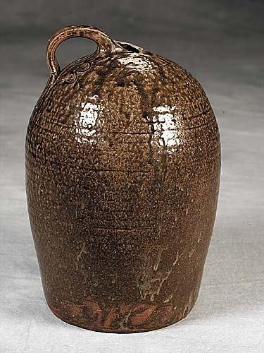 414: Edgefield District alkaline glazed stoneware jug D