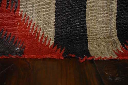 415: Late Classical Navajo wearing blanket Date: circa