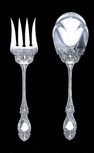 421: Wallace sterling salad serving set Date: circa 189