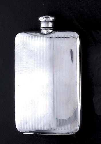 422: Gorham sterling flask Date: circa 1900