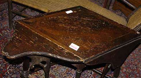 501: American carved larch tavern table