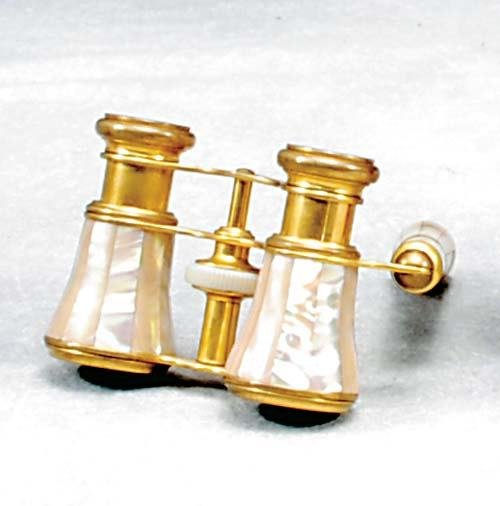 2: French mother-of-pearl opera glasses
