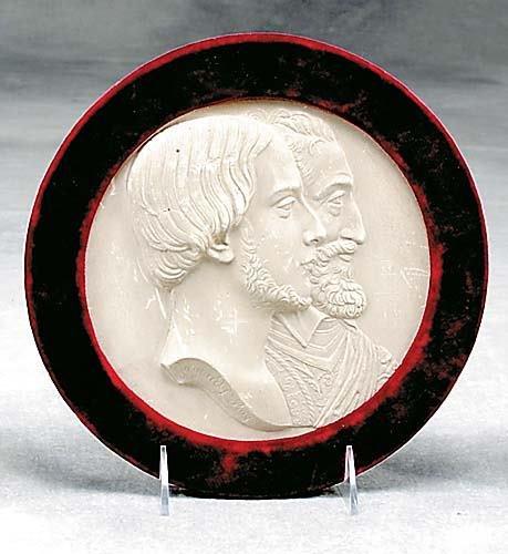 3: English plaster commemorative plaque