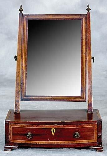 21: English inlaid mahogany dressing mirror
