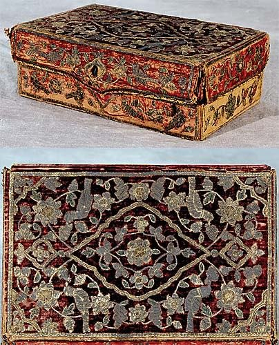 23: Rare Charles II stumpwork lockbox