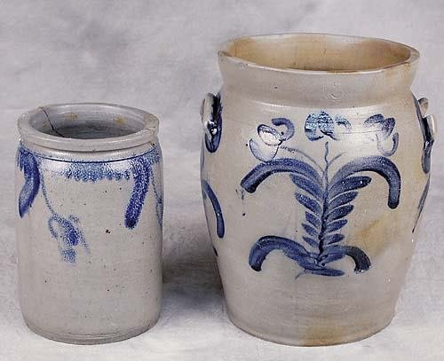 508: Two Pennsylvania salt-glazed jars