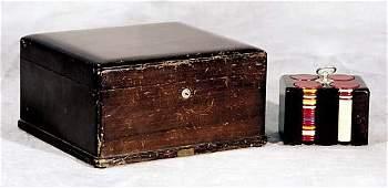536 Poker chip set in wood case