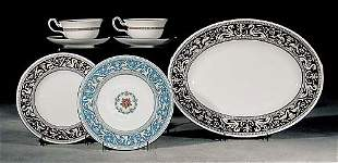 001: Wedgwood porcelain dinnerware 'Florentine' pattern