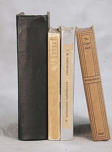 002: 4 vols. books: Various titles dated 1822-1932 Maro